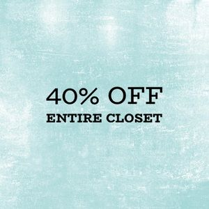 Entire closet is 40% off-Send me the offer